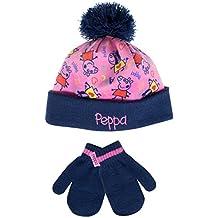Peppa Pig - Conjunto de gorro y guantes para niña - Peppa Pig