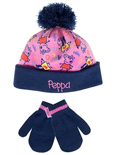 Peppa Pig - Conjunto gorro guantes niña Multicolor