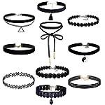 10 Stück Choker Halsketten Set Velvet...