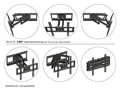 RICOO LCD TV Wandhalter Schwenkbar Neigbar S1544 Fernseher Wandhalterung Halterung Fernsehhalterung LED Flachbildschirm ca.76-165cm / 30′- 32′ – 42′ – 47′- 55′ – 65′ Zoll - 4