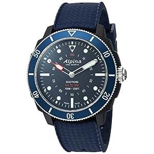 Alpina hombres del 'Horological Smart de cuarzo acero inoxidable y goma reloj deportivo, color: azul (modelo: al-282lnn4V6)