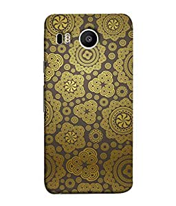 PrintVisa Designer Back Case Cover for LG Nexus 5X :: LG Google Nexus 5X New (Artistic Design Of Flowers In Brown)