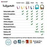 OnanOff Buddyphones Explore, Auriculares con Cable para niños, Azul y Blanco