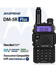Baofeng DM-5R Plus Dual Band DMR Digital Radio Walkie Talkie, Two-Way Radio Transceiver, Compatibale with MOTOROLA, Black
