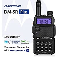 Baofeng DM-5R Plus Dual Band DMR Digital Radio Walkie Talkie, Two-Way Radio Transceiver, Compatibale with MOTOROLA, Black
