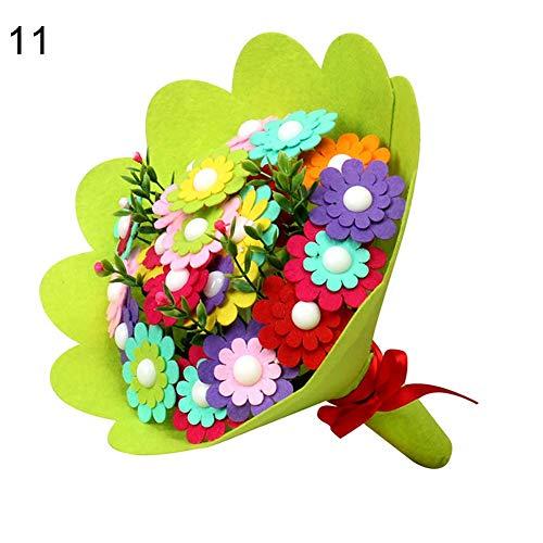 Vektenxi Premium Qualität Kindergarten Handgemachte Puzzle Vlies Blumenstrauß DIY Kinder Handwerk Spielzeug Geschenk 11