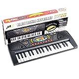 Keyboard Kinder, Likeluk 37-Tasten Digital Keyboard mit Mikrofon für Kleinkinder und Anfänger