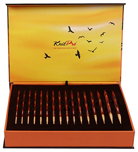 KnitPro Set The GOLDEN Light Box austauschbare Rundstricknadeln, Holz, Symphonie, 27 x 18 x 5 cm (Goldene Stricknadeln)