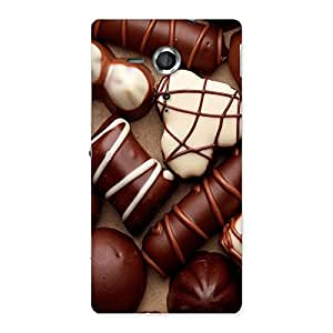 Chocolate Sweets White Brown Back Case Cover for Sony Xperia SP