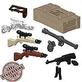Custom Brick Forge WW2 US Waffen Weapen Set für z.B. LEGO ® Figuren
