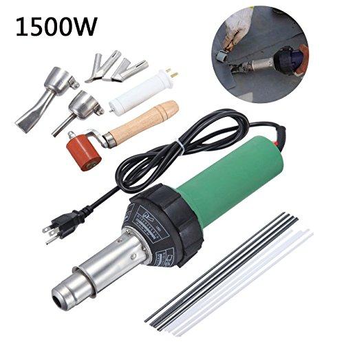 Paneltech 1500W /1600W Schweißpistole Kunststoff-Schweißer Heißluftpistole Heißluftbrenner mit EU Stecker (1500W)