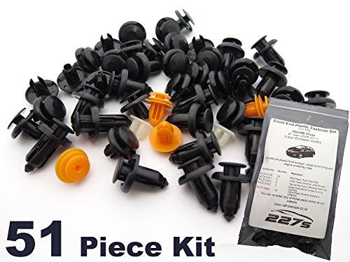 51 Pièces - Garniture En Plastique Assortiment Clip Kit de Montage - Honda Civic Mk8