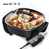 Best woks électriques - Ilucky Hot Pot Électrique Multifonction Pot Domestique Antiadhésive Review