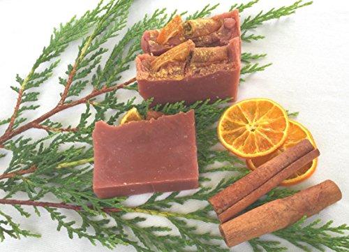Rot Natürliche Seife (Wintertraum Seife, vegan, ohne Palmöl, handgemachte Naturseife von kleine Auszeit Manufaktur)