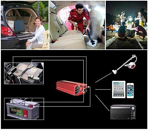 BESTEK Convertisseur Onduleur 2000W 12V 220V Sinus Modifié Domestique