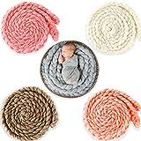 Best Accessories For Newborn Girls - Bembika Newborn Twist Rope Photo Blanket Backdrop Ba Review