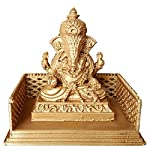 This Lord Ganesha Idol with Temple specially made for car's dashboard. Idol is 3D printed using PLA plastic material.