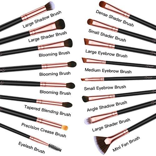 BESTOPE 16 Stück Pinselset Hochwertiger Augenpinsel Pinselset Kosmetik Lidschattenpinsel Make Up Pinsel Set Beauty Tools Premium Schminkpinsel Kosmetikpinsel Set (Rosa Gold)