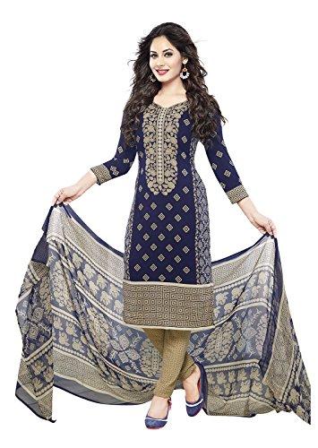 ishin Women's Dress Material (Ishintpdm-1654B_Blue_Free Size)
