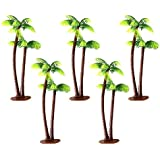 Vosarea 5pcs Model Trees Coconut Palm Tree Miniature Landscape Scenery Architecture Railroad Trees 13cm