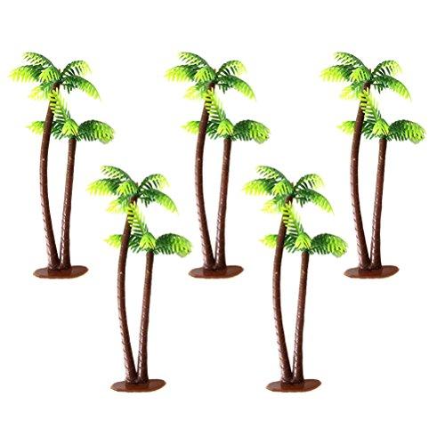 WINOMO Miniatur Bäume Modell 5pcs 13Centimeter Kokos-Palme Landschaft Landschaft Architektur Bäume des Eisenbahn