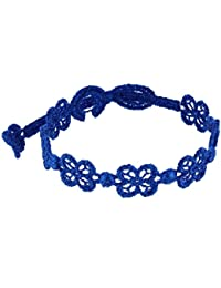Les Poulettes Bijoux - Cruciani Bracelet Dentelle Happy Bleu