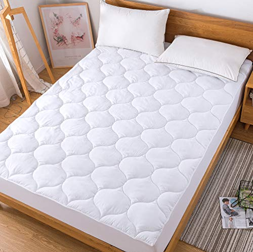 Decroom Cool Matratzen-Auflage, Daunen-Alternative, gesteppt, hypoallergen, atmungsaktiv, Spannbetttuch, Matratzenbezug Full -