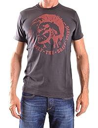 7f815990cd70 Diesel - - Homme - T-shirt col rond manches courtes noir tête indien T