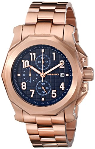 Orefici Unisex ORM6C4410BR Analog Display Quartz Rose Gold Watch