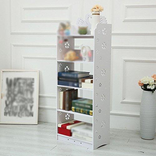 Estantería, Estantería, Tablero de madera y plástico White Hollow ( Tamaño : 46*25*112cm )
