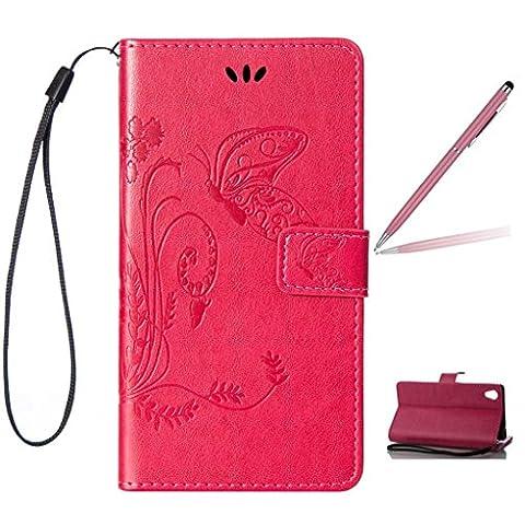 Trumpshop Smartphone Case Coque Housse Etui de Protection pour HTC Desire 820 + Rouge + Ultra Mince Smartcoque Portefeuille PU Cuir Avec Fonction Support Anti-Choc Anti-Rayures