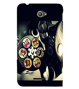 PRINTSWAG REVOLVER WITH SMILEY Designer Back Cover Case for SONY XPERIA E4 DUAL