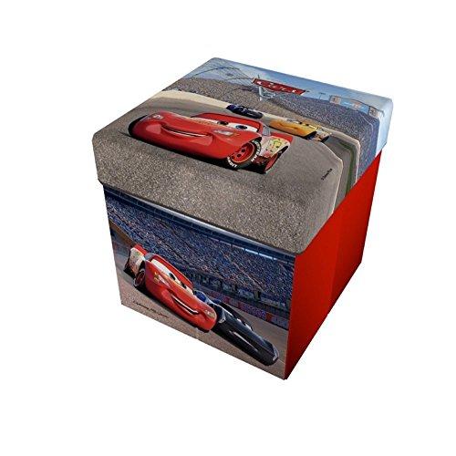 Star  disney cars & planes pouf contenitore con cuscino stampato, dimensioni 32 x 32 cm
