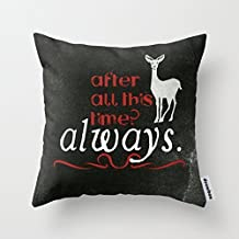 andersonfgytyh Home Style Cotton Linen Throw Pillow Cover Cushion Case Harry Potter Severus Snape After all this time - Always. - 45 X 45 cm Square Design