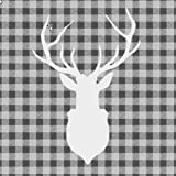 Ambiente Servietten Lunch / Party / ca. 33x33cm Deer Outline Grey - Hirsch Grau