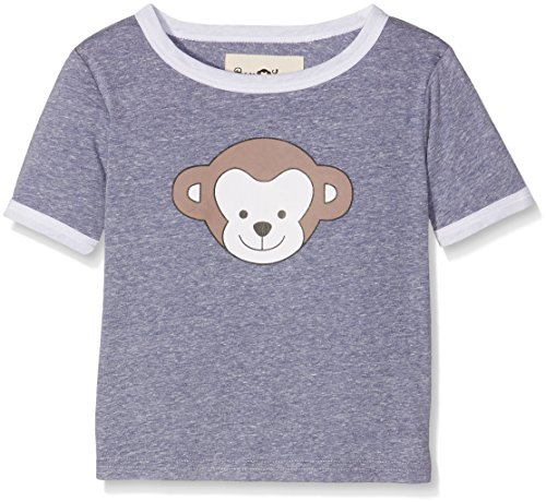 Ben & Lea Kinder T-Shirt mit Print, Blau (Dunkelblau Melange 080), 110 (Herstellergröße: 110/116)