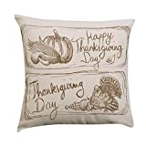 WENEOO LA Gotd Decorations Decor Throw Pillow Case Sofa Waist Throw Cushion Cover Home Decor Thanksgiving Party Square 4