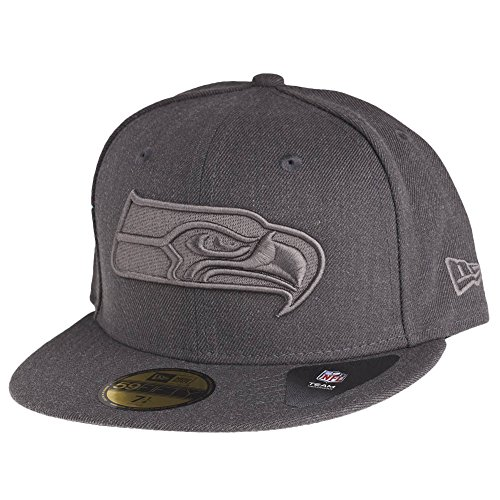 New Era Herren Fitted Cap Tonal Graphite Seattle Seahawks grau grau 7 1/4 - 57,7cm -