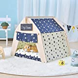 Home Tipi Tent for Dog or Pet Removable Washable Mattress Kennel Yurt Cute Cat Litter Four Seasons Supplies,Starmodels(nopad),L