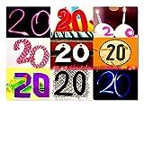 DigitalOase Glückwunschkarte 20. Geburtstag Jubiläumskarte 20. Jubiläum Geburtstagskarte Grußkarte Format DIN A4 A3 Klappkarte PanoramaUmschlag