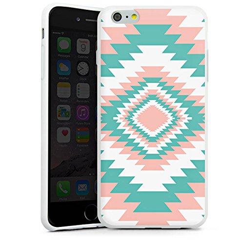 Apple iPhone X Silikon Hülle Case Schutzhülle Ethno Frühling Muster Silikon Case weiß