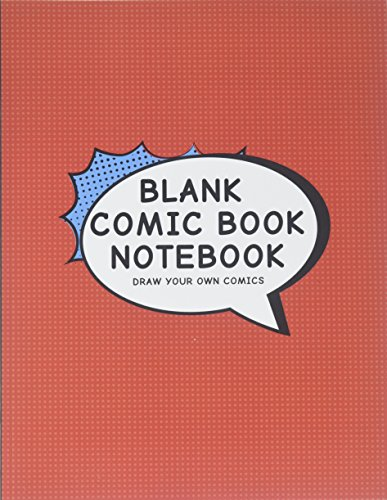 Blank Comic Book Notebook: Create Your Own Comic Book Strip, Variety of Templates For Comic Book Drawing, Vintage Red-[Professional Binding]