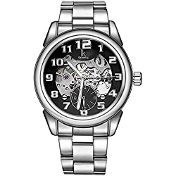 YPS Men Numbers Scale Luminous Hands Decoration Small Dials Automatic Self Wind Mechanical Movement Wrist Watch WTH5278