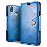 SLEO Case for BQ Aquaris C Case, Retro PU Leather Wallet