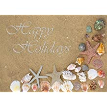 18 Christmas Cards and Envelopes, Starfish on the Beach by LPG