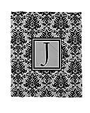 Telecharger Livres Manuel Woodworkers et Weavers Corail Couvre lit polaire 50 par 152 4 cm ornee d un Monogramme Lettre J Noir et gris Damas (PDF,EPUB,MOBI) gratuits en Francaise
