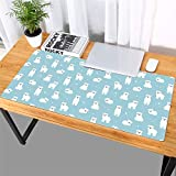 Thboxes Fashion Pattern Oversized Precision Pro Gaming Mouse Pad Computer Desk Mat Arctic Bear 700x360