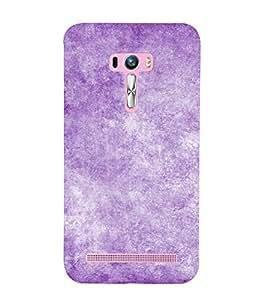 Purple Texture 3D Hard Polycarbonate Designer Back Case Cover for Asus Zenfone Selfie ZD551KL