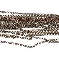 4M de Cadena Tres Fine Metal Cobre 2x 1mm–Patines–Creation Perlas