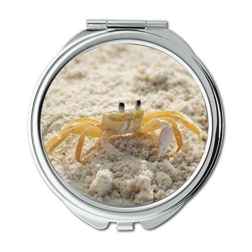 Yanteng Spiegel, Schminkspiegel, Tier Tierfotografie Strand, Taschenspiegel, tragbarer Spiegel